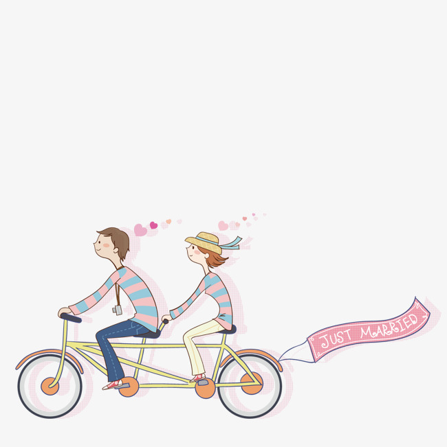 650x651 A Couple Riding A Bike, Couple Vector, Bike Vector, Vector Png And