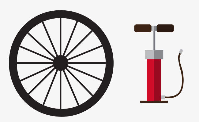 650x400 Bicycle Tire Pump And Vector, Vector, Black, Bicycle Tire Png And