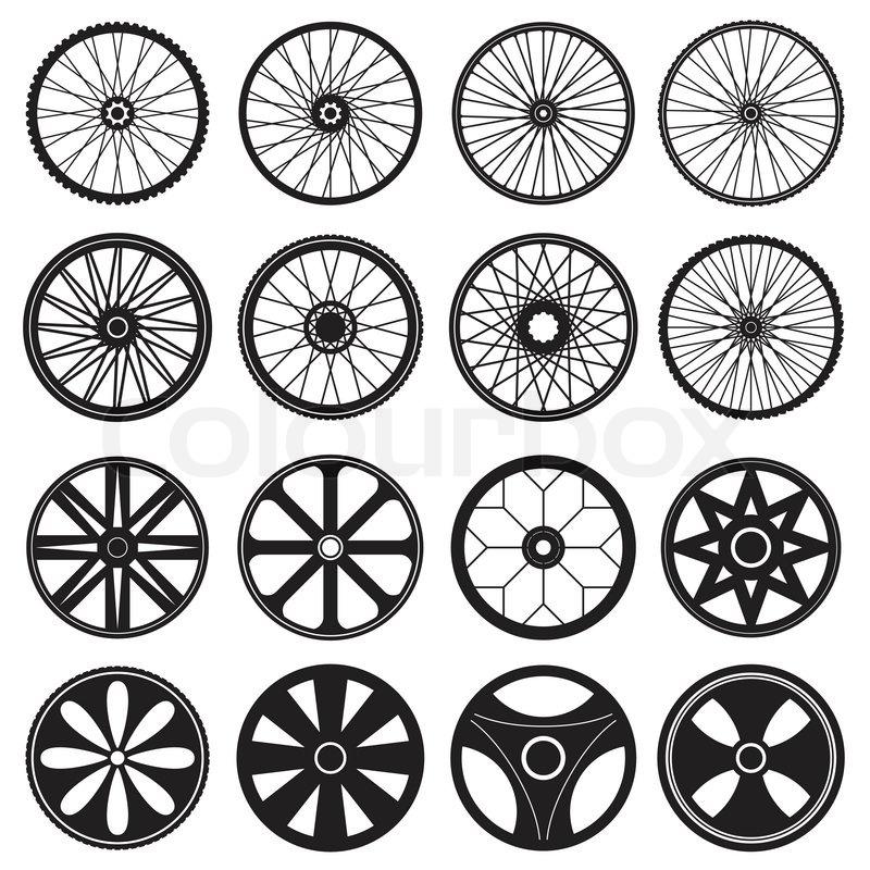 800x800 Bicycle Wheel, Vector Format Stock Vector Colourbox