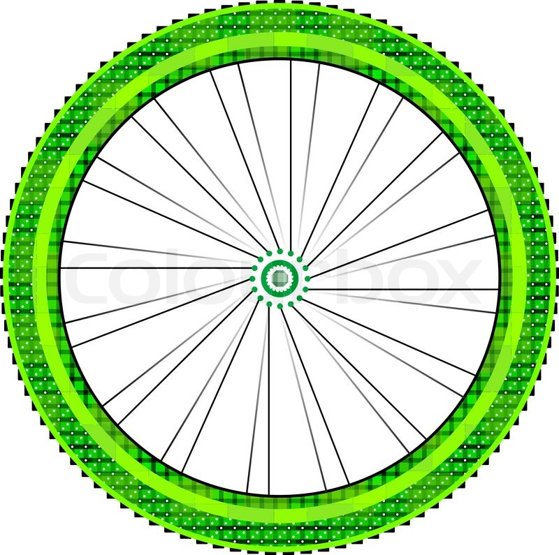 800x795 Bike Wheel With Tire And Spokes Isolated On White Background
