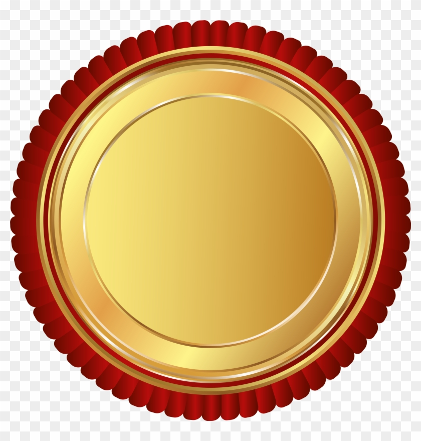 840x879 Gold Red Seal Badge Png Clip Art Image