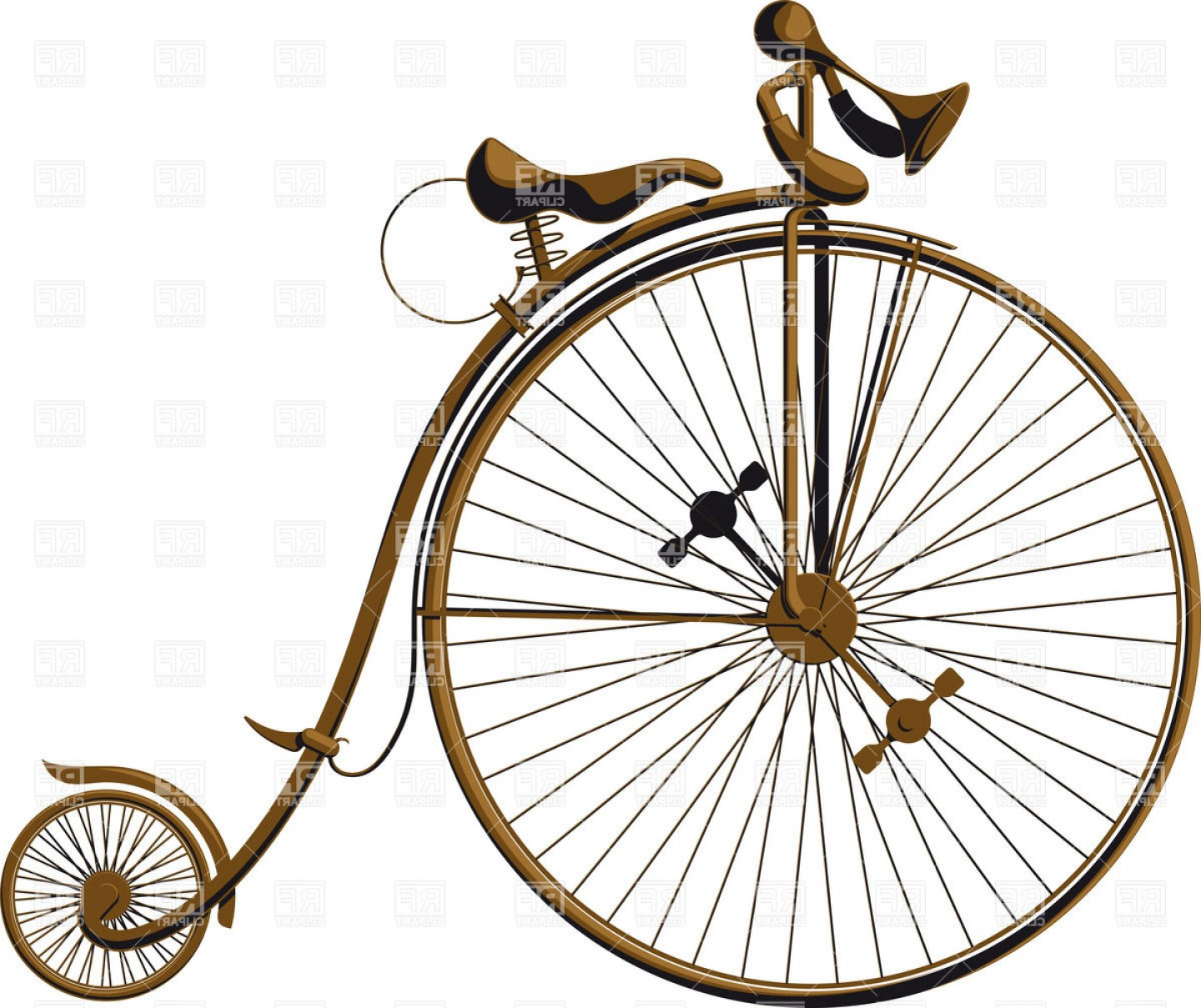 1440x1209 Grungy Old Fashioned Bicycle With A Large Front Wheel Penny