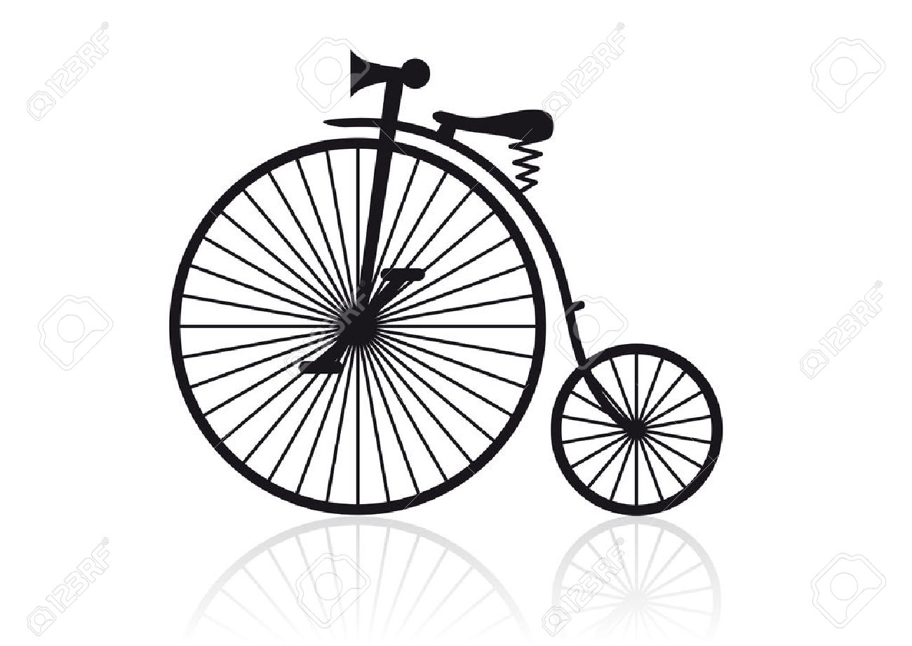 1300x920 High Wheel Bicycle Clipart