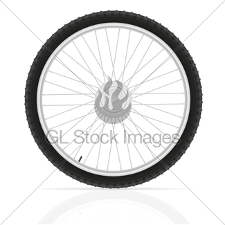 325x325 Motorcycle Wheel Tire From The Disk Vector Illustration Gl Stock