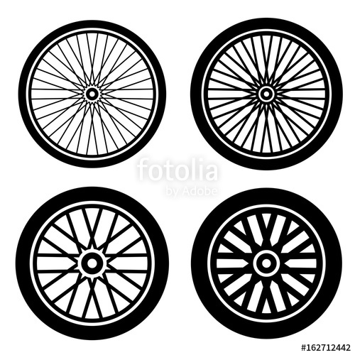 500x500 Bike Motorbike Wheels Black Silhouette Vector Stock Image And