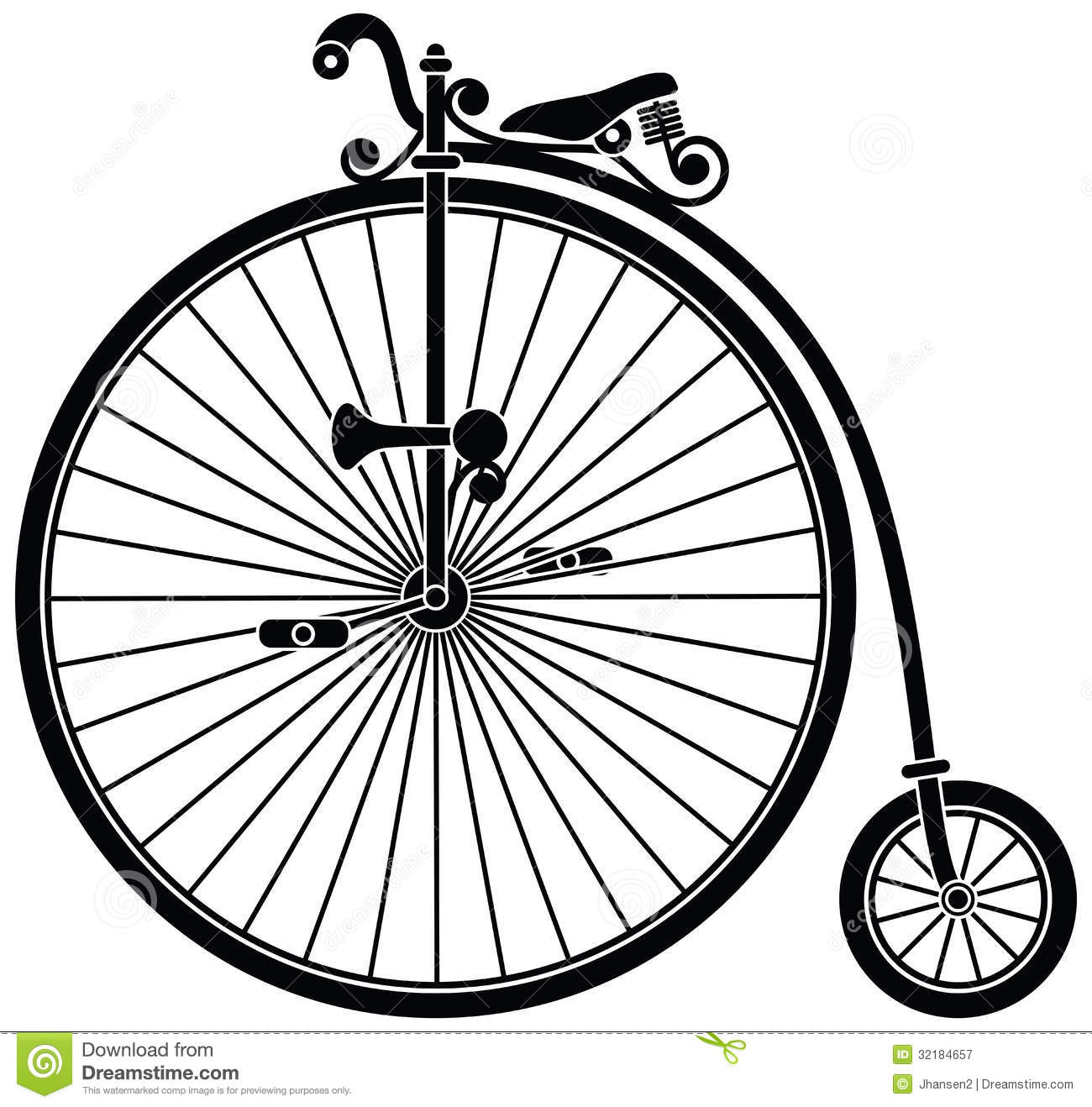 1300x1318 Collection Of Vintage Bike Wheel Drawing High Quality, Free