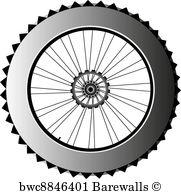 181x194 3,990 Vector Bike Wheel Black Silhouette Posters And Art Prints