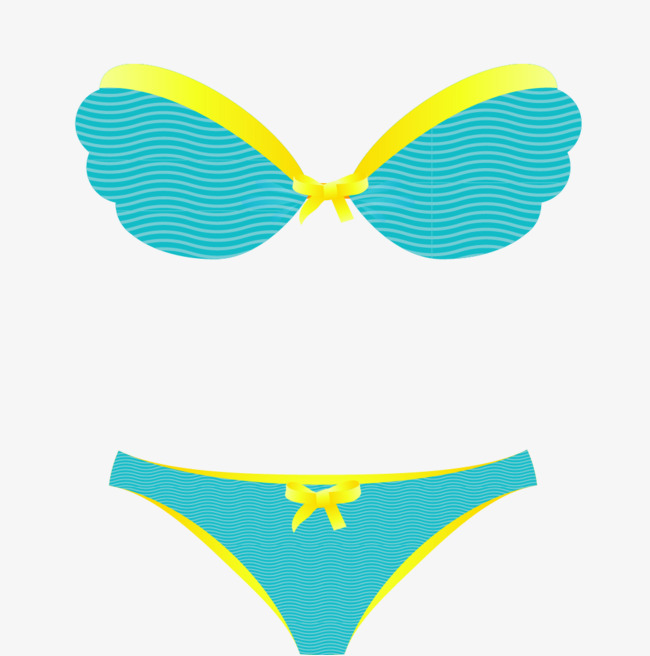 650x656 Vector Hand Painted Blue Bikini, Vector, Hand Painted, Blue Png