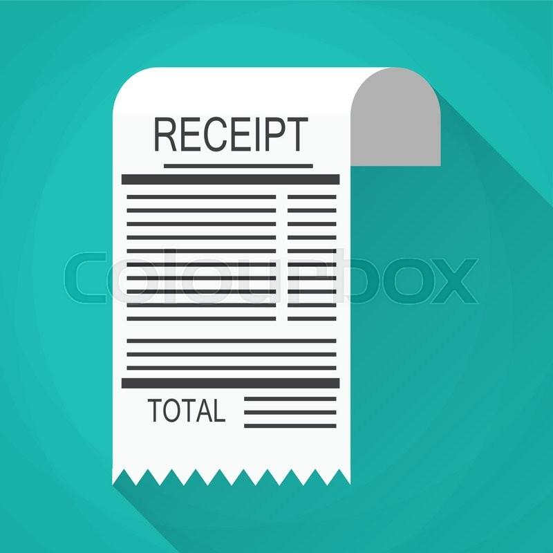 800x800 Receipt Icon. Invoice Icon. Total Bill Icon. Vector Illustration