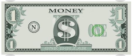 450x193 Vector Illustration Of Game Dollar Bill Stock Vector