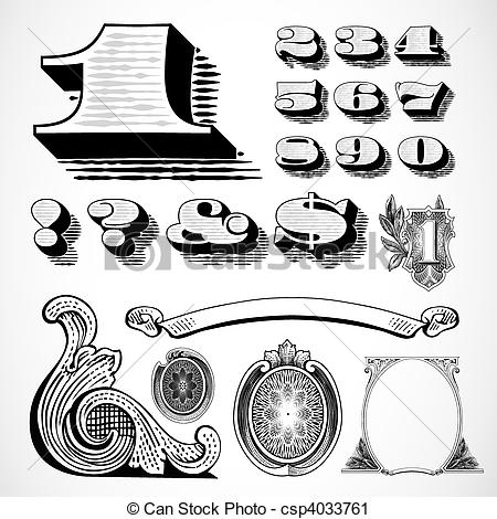 450x470 Vector Money Elements. Detailed Elements Based On A Dollar Bill.