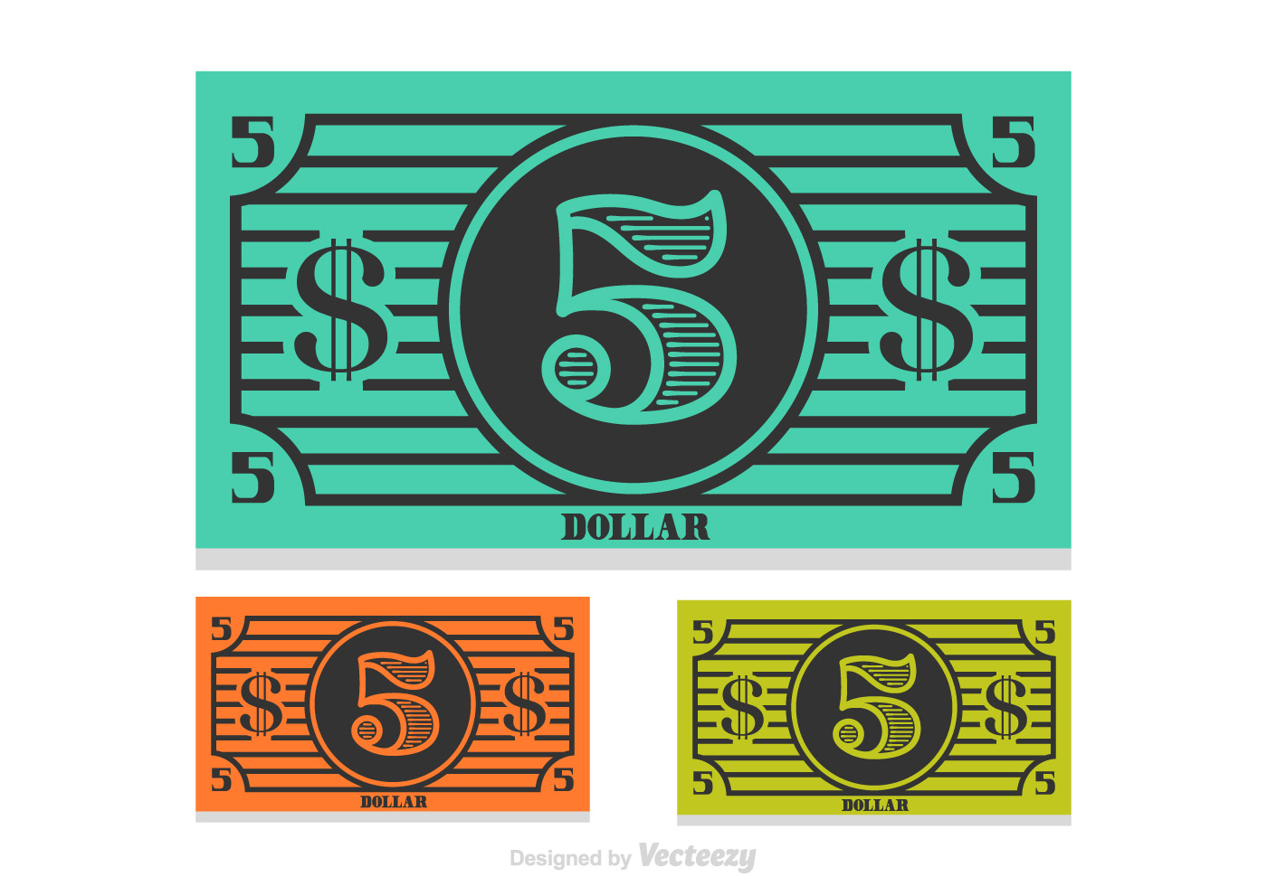 1400x980 5 Dollar Bill Vector Free Vector Download In .ai, .eps, .svg Format