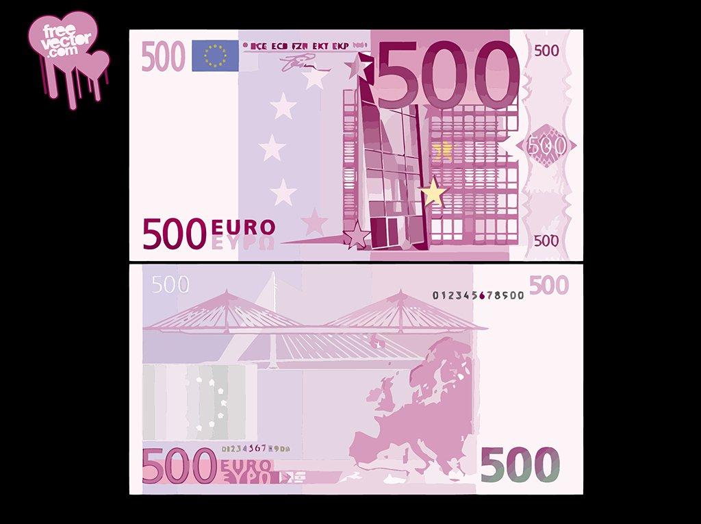 1024x765 500 Euro Bill Vector Art Amp Graphics