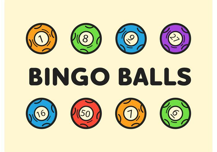 700x490 Bingo Balls Editable Vector Icons