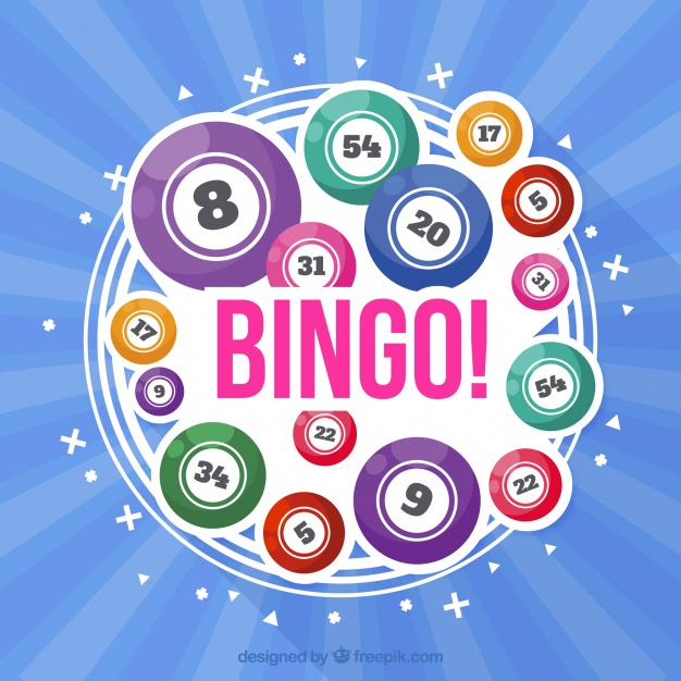 626x626 Blue Background With Colorful Bingo Balls Vector Free Download