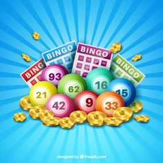 236x236 Colorful Background Of Bingo Balls Free Vector Graphic Design