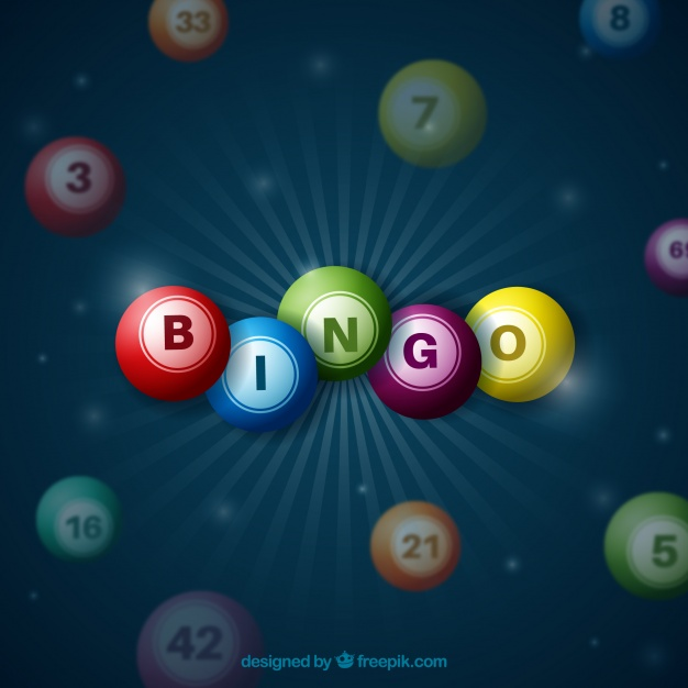 626x626 Dark Background With Colorful Bingo Balls Vector Free Download