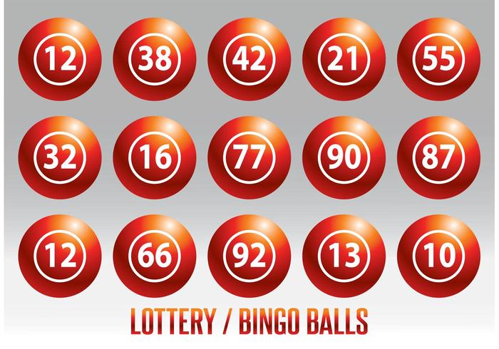 700x490 Lottery Bingo Ball Vector Set