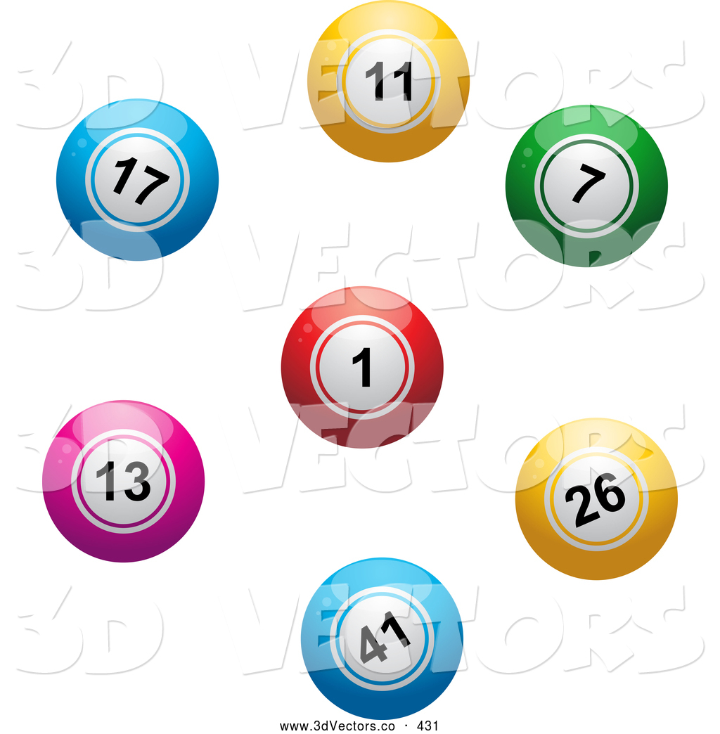 1024x1044 3d Vector Clipart Of A Colorful Lottery Or Bingo Balls In A Circle