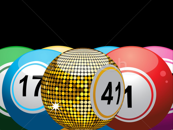 600x451 Lucky Gold Bingo Ball Vector Illustration Elaine Barker (Elaine