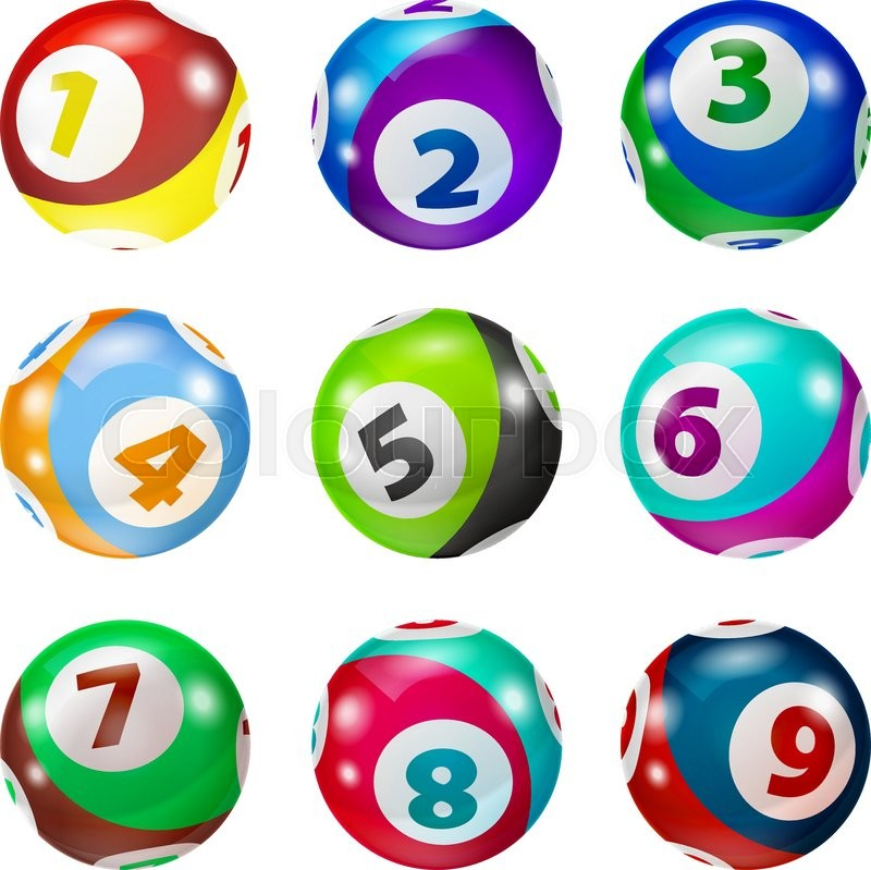 800x799 Vector Colorful Bingo. Lottery Number Balls. Colored Balls