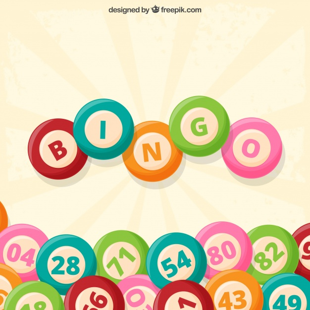 626x626 Vintage Background Of Bingo Balls Vector Free Download