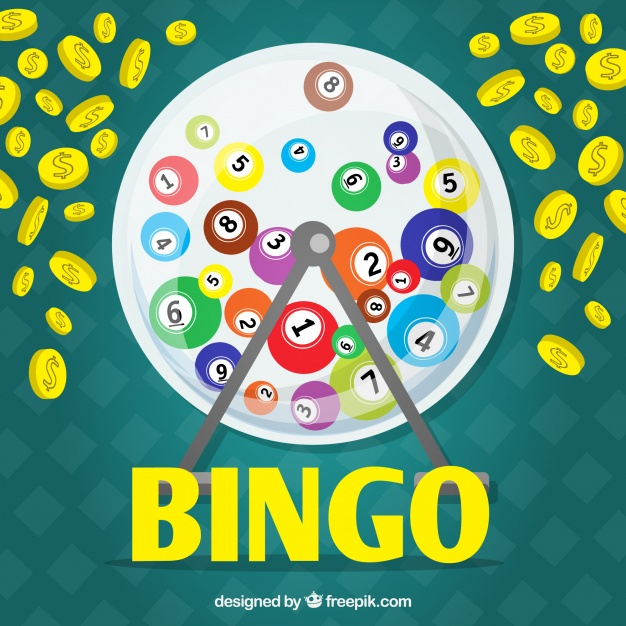 626x626 Background With Bingo Balls And Coins Vector Free Download