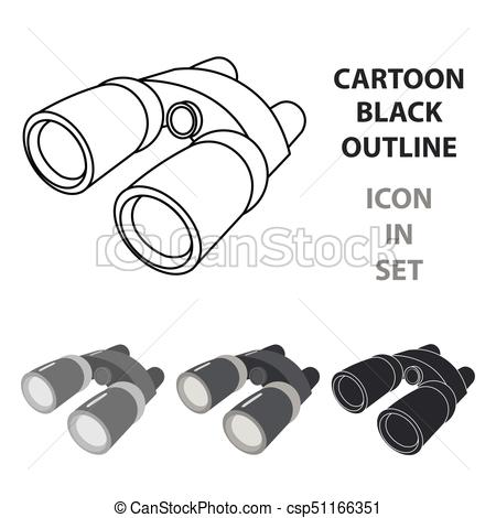 450x470 Binoculars Icon Of Vector Illustration For Web And Mobile