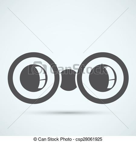 450x470 Binoculars Icon Vector Illustration