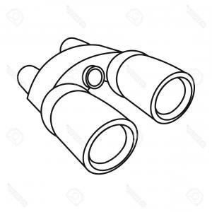 300x300 Photostock Vector Binoculars Icon In Outline Style Isolated On