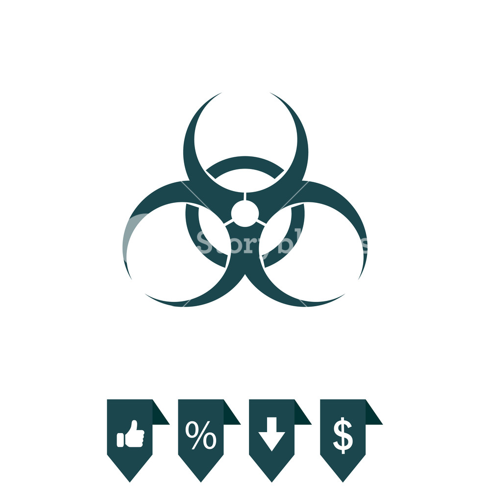 1000x1000 Biohazard Symbol. Vector Sign Isolated Royalty Free Stock Image