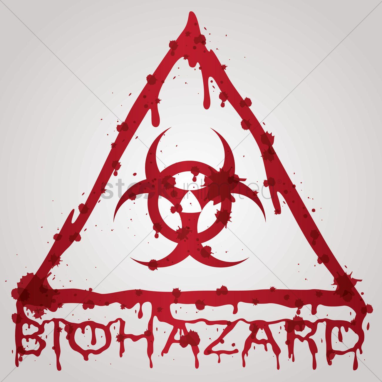 1300x1300 Bloody Biohazard Sign Vector Image