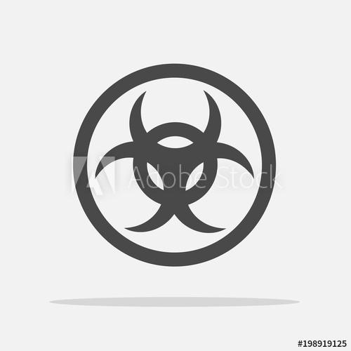 500x500 Biohazard Sign Vector Icon