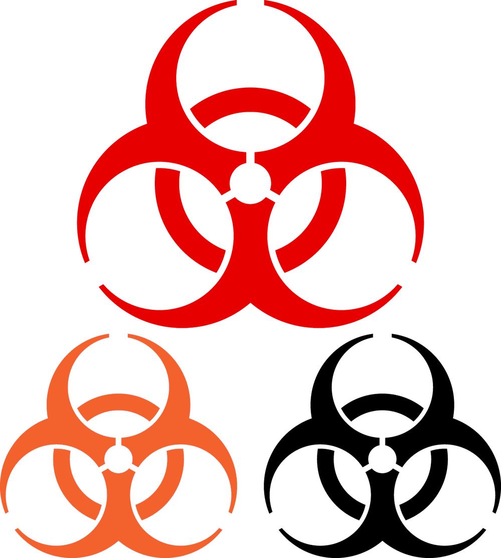 1000x1113 Biohazard Clipart Vector
