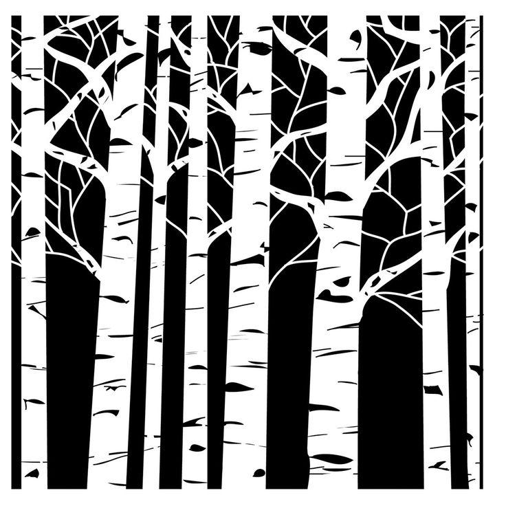 736x736 Birch Tree Clip Art Clipartlook