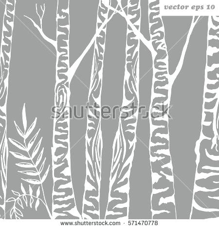 450x470 Birch Wrapping Paper Birch Tree Background Vector Illustration