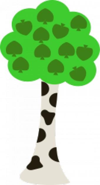 340x626 Birch Tree Vector Free Download
