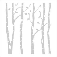 236x236 Birch Tree Forest With Deers Vector 1092822