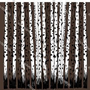 300x300 Realistic Birch Tree Branches Silhouette Vector Sohadacouri