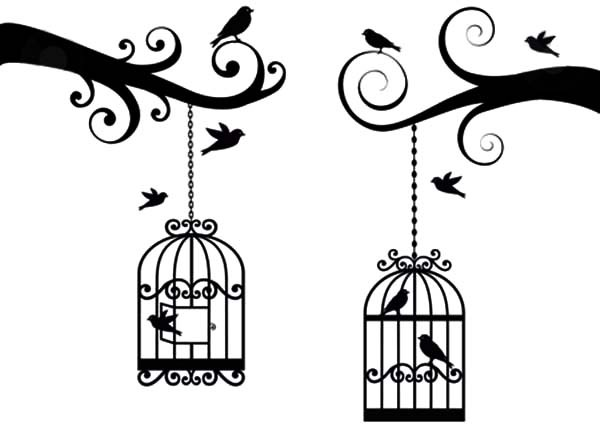 600x424 Bird Cage Lovely Vector Coloring Pages Best Place To Color