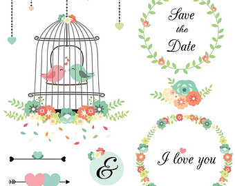 340x270 Birdcage Clipart Shabby Chic