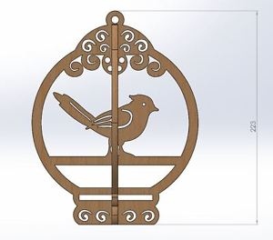 300x264 Laser Cutting Cnc Router Dxf File Bird Cage Vectors 2d Woodworking