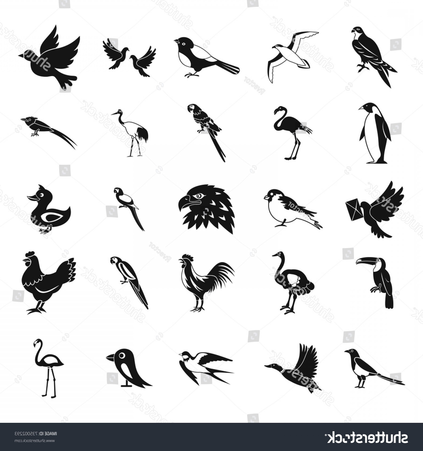 1800x1920 Birds Icon Set Simple Vector Icons Shopatcloth