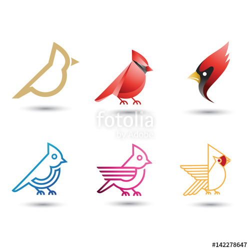 500x500 Cardinal Bird Icon Collection Logo Stock Image And Royalty Free