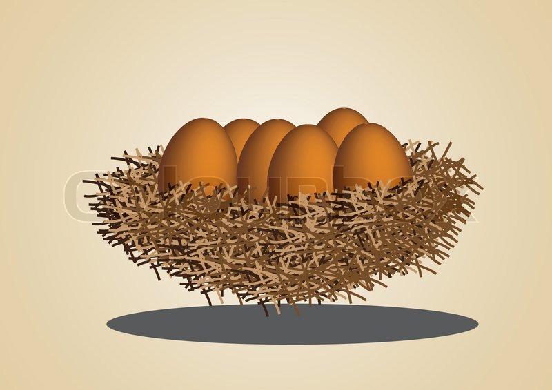 800x566 Eggs In Bird Nest Vector Images Stock Vector Colourbox