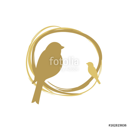 500x500 Bird Nest Vector Logo Design. Stock Photo And Royalty Free Images