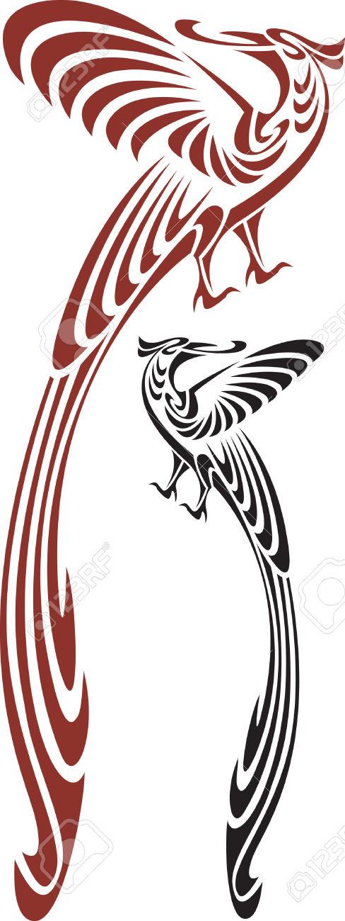 488x1300 Bird Of Paradise Clipart Tribal