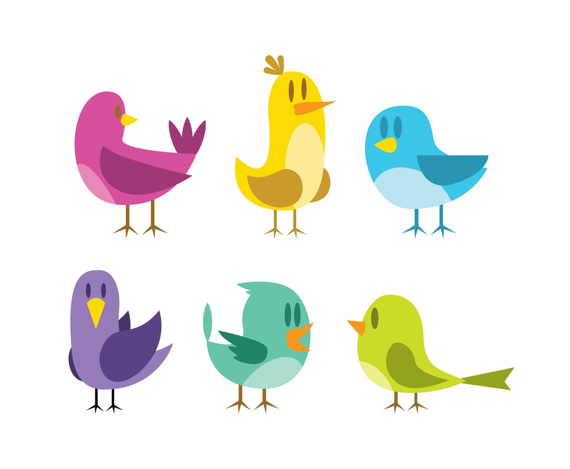 1136x936 Isolated Cartoon Birds Vector Vector Art Amp Graphics