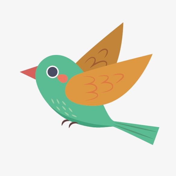 583x583 Bird, Bird Vector, Bird Clipart, Green Png And Vector For Free
