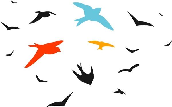 600x375 Bird Vector Set Free Vector In Adobe Illustrator Ai ( .ai ) Vector